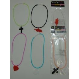 144 of . Silicone Glow Necklace