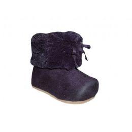 24 of Girls Purple Microsude Plush Boots