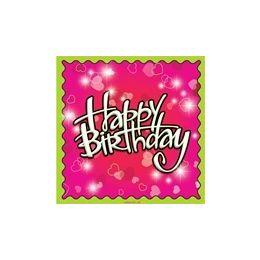 144 of Birthday Love Luncheon Napkins - 16ct.