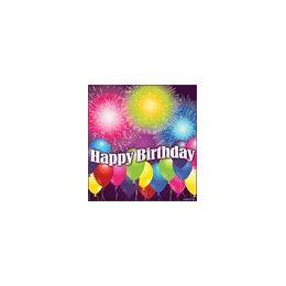 288 of Birthday Blast Beverage Napkins - 16ct.
