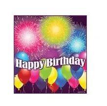144 of Birthday Blast Luncheon Napkins - 16ct.