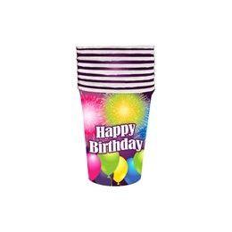 144 of Birthday Blast Cups - 8 ct