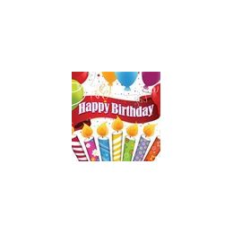 288 of Happy Birthday Candles With Balloons Beverage Napkins - 16ct.