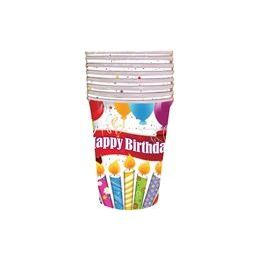 144 of Happy Birthday Candles With Balloons Cups - 8 Ct.