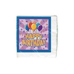 144 of Birthday Balloon Luncheon Napkins - 16 Ct.
