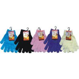 48 of Ladies Chenille Glove Asst Colors