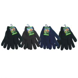 36 of Mens Knit Glove Heavy Duty Assorted Dark Colors