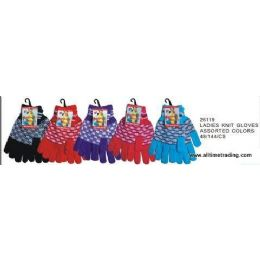 144 of Ladies Knit Gloves Assorted Colors