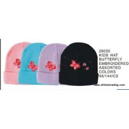 144 of Kids Hat With Butterfly Embroidery