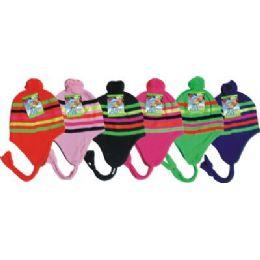 96 of Neon Craze Striped Fleece Winter Hat