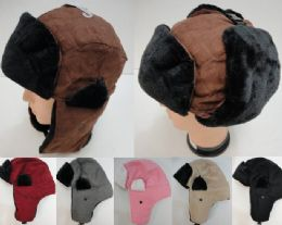 12 of Aviator Hat With Fur TriM--Suede