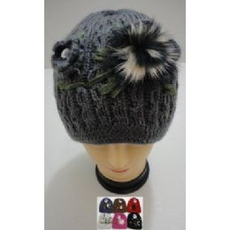 36 of Hand Knitted Fashion HaT--1 Flower & Fur