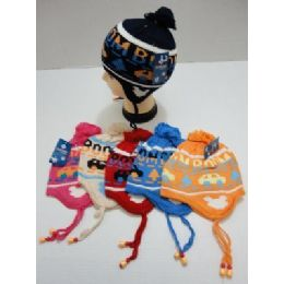 72 of Child's Knit Cap with Ear Flap--Cars