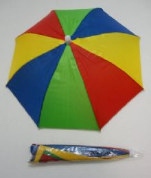 60 of Umbrella Hat-Red/Yellow/Green/Blue