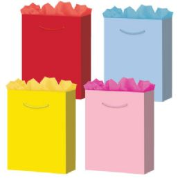 """288 of Solid Colors 6 Asst. Small 4.75"""" X 5.75"""" X 3"""""""