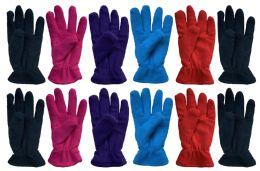 36 of Yacht & Smith Womens Double Layer Fleece Gloves Packed Assorted Colors