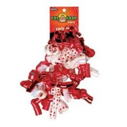 192 of Curled Ribbon Bow - Red Hearts, Pegable Single