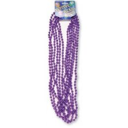 "120 of Festive Beads - 33"" Purple - 6 ct"