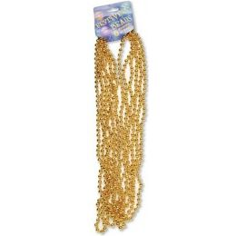 """120 of Festive Beads - 33"""" Gold - 6 ct"""