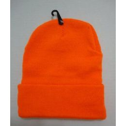 48 of Hunter Orange Toboggan Winter Hat