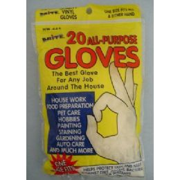 36 of 20pk All Purpose Latex Gloves [10prs]