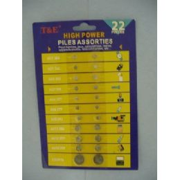 144 of 22pc Assorted Button Cell Batteries