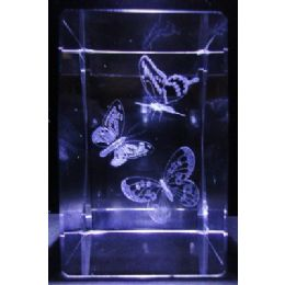24 of 3d Laser Etched CrystaL-3 Butterflies