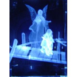 24 of 3d Laser Etched CrystaL-Angel With Kids