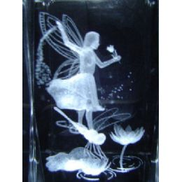 24 of 3d Laser Etched CrystaL-Fairy With Dragonfly