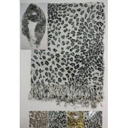 72 of Scarf With FringE--Animal Print