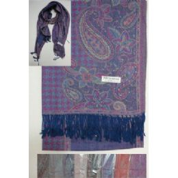 72 of Pashmina With FringE--Houndstooth & Paisley