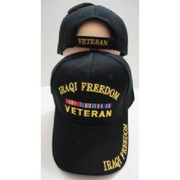24 of Iraqi Freedom Veteran Hat [Black Only]
