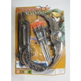 96 of 10 Inch Toy Crossbow With 3 Arrows