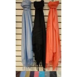 72 of Pashmina With FringE--Solid Color