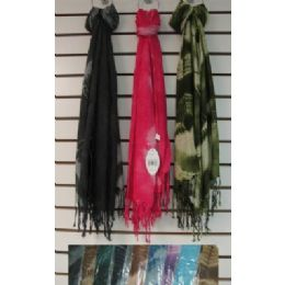 72 of Scarf With FringE-Single Color Tie Dye