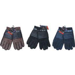 24 of Winter Glove Suede Men With Stripe