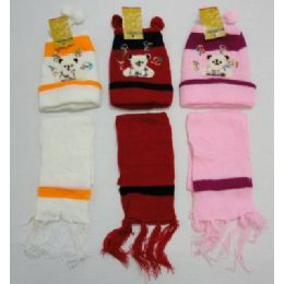72 of Baby Knit Cap with Scarf--Bears