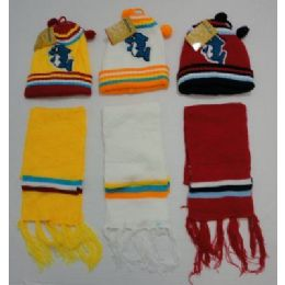 72 of Baby Knit Cap with Scarf--Dolphins