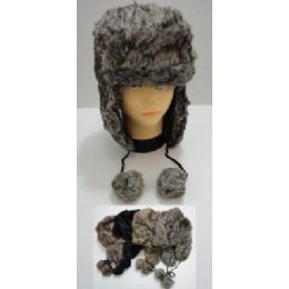 36 of Bomber Hat With PompoM--Faux Fur