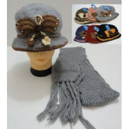 36 of Hand Knitted Fashion Hat & Scarf SeT--Butterfly