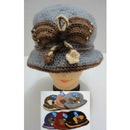 48 of Hand Knitted Fashion HaT--Butterfly