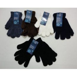 144 of Ladies Chenille GloveS--Solid Color