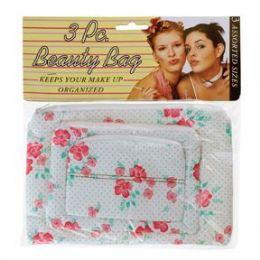 144 of 3 Piece Beauty Bag Asst Styles