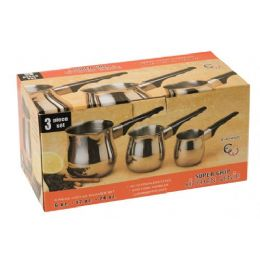 24 of 3 Piece Stainless Steel Coffee Warmer Set