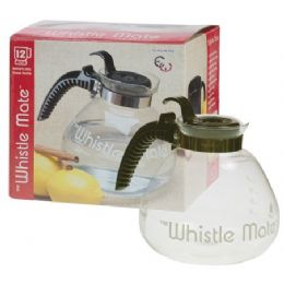 12 of 12 Cup Whistling Glass Tea Kettle