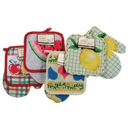 216 of Item# 709 Chef's Collection Pot Holder & Oven Mitt Set