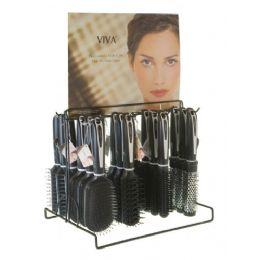 144 of Viva Black/White Hairbrush On Metal Display Rack