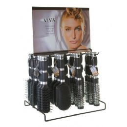 144 of Viva 2 Tone Grip Hairbrush On Metal Display Rack