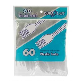 96 of 60 Count Heavy Weight Plastic Forks