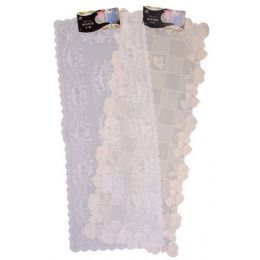 "144 of 16"" X36"" White/beige Lace Runner"